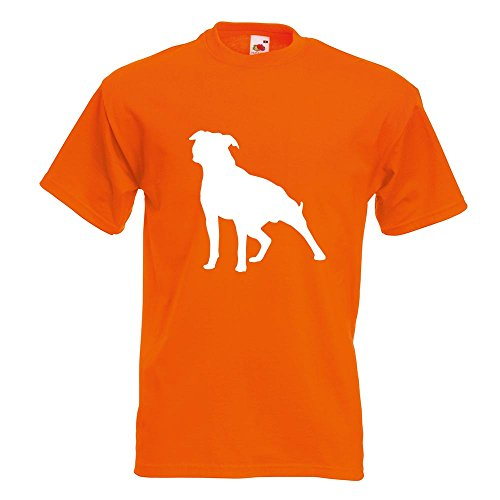 KIWISTAR - American Stafford Hunderasse T-Shirt in 15 verschiedenen Farben  - Herren Funshirt bedruckt