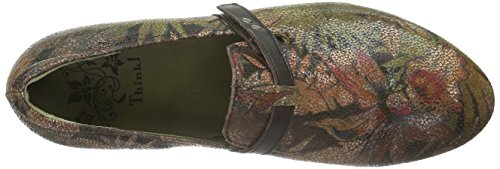 Think! Damen Guad Slipper Braun (HAZEL/KOMBI 50)