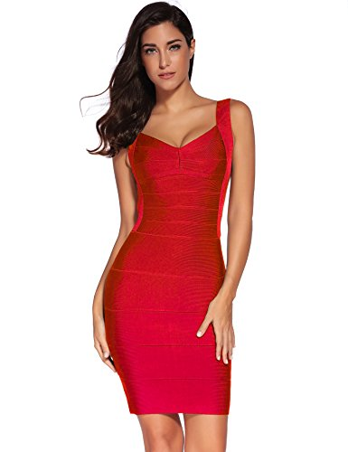 Shownice Women Rayon Backless Bandage Bodycon Cocktail Party Fitted Mini Dress