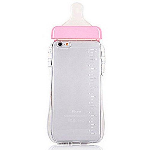 """Preisvergleich Produktbild iPhone 7 hülle (4,7""""), Dikals Baby-Erinnerungen, schöne Babyflaschen, weiches Silikon, transparent hülle(iPhone 7,Pink)"""