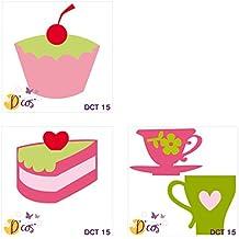 Toga DCT15D'cos–Trío de dulces–Troqueles de corte de metal gris 5x 5x 0,2cm