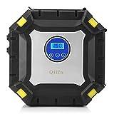 Qiilu 100PSI Compressore Portatile con Lampada a LED,3 Adattatori di Valvola per Auto RV Bici Camper Pallone da Basket Materasso ad Aria e Oggetti Gonfiabili…
