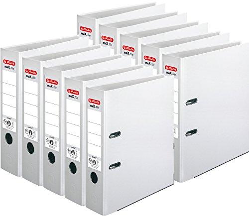 Herlitz Ordner maX.file protect A4, 8 cm breit (10er Pack | Weiß)