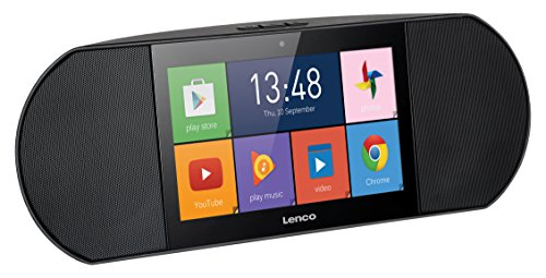 Lenco Diverso-700GY tragbares High-End Internetradio und Multimedia-Center (7 Zoll Touchscreen, Wifi, Android 5.1, 8GB ROM, Mikrofon, Kamera, USB, SD, HDMI), schwarz