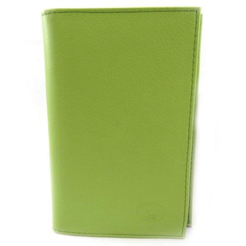 Frandi [L3466] - Porte Papiers de voiture Cuir 'Frandi' vert pistache (ultra plat)