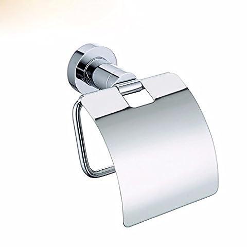 MDRW-Accessoires Salle De Bain Porte-Papier ToiletteServiette En Papier Laiton Étanche Support Papier Toilette Papier Toilette Salle De Bains Fort Fort Haut Ouvrir Une Serviette En Papier Fort Couleur Chrome