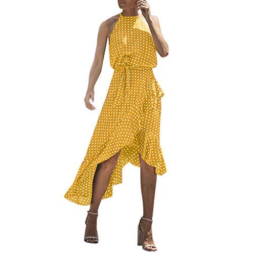 19a4784977 Vestido Mujer Verano 2019 Vestido Estampado De Lunares De Gasa De Verano  para Mujer Falda Corta