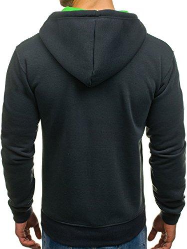 BOLF - Sweat-shirt con cappuccio - Con cerniera – P&L FASHION 351 – Uomo Grafite