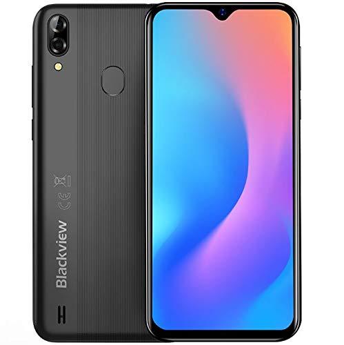 "(2019) Blackview A60 Pro Android 9.0 4G teléfono móvil Libre, 6.1"" Pantalla FullView Dual SIM Smartphone, Helio A22 MTK6761 Quad Core 2.0GHz 3GB+16GB, 4080mAh batería, desbloqueo Facial, GPS Negro"