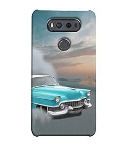 PrintVisa Designer Back Case Cover for LG V20 Dual H990DS :: LG V20 Dual H990N (Older Smoke Drive Sports Wheel Speed)