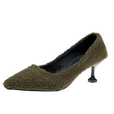 SANMULYH Scarpe Donna Inverno Comfort Tacchi Stiletto Heel Punta Per Il Casual Verde Rosso Nero Verde