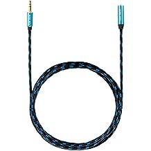 Ultra HDTV Premium – 15m Cable de extensión audio estéreo Jack, conector macho de 3,5mm a hembra de 3,5mm