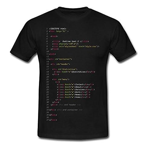 Langage Informatique Fichier Html T-shirt Homme de Spreadshirt®, XXL, noir
