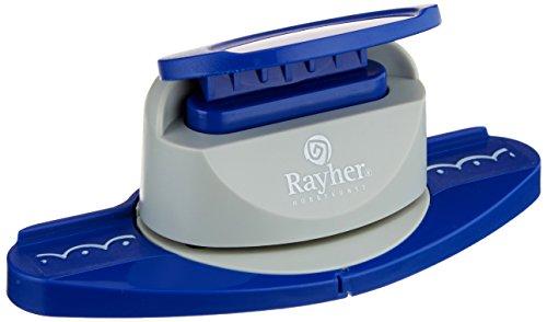 Rayher Bordüren Stanzer Halbkreise, Motivgröße, 4cm, geeignet für Papier/Karton bis zu 200g/m²