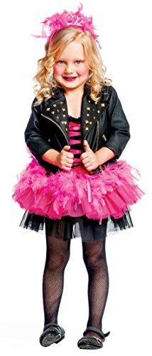 KOSTÜM FASCHING KARNEVAL LADY PUNK BABY für KARNAVALKOSTÜME fancy dress halloween cosplay veneziano party 50622 Size (Halloween Punk Kostüme Baby)