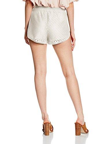 Vero Moda Vmjolien Lace, Short Femme Blanc (White)