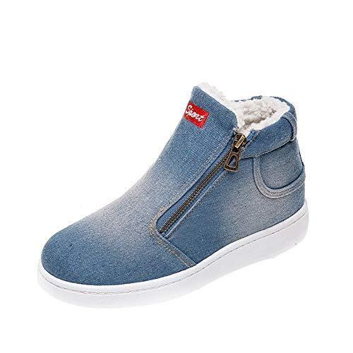 Bazhahei donna scarpa,ragazza denim scarponi da neve caldo scarpe basse,invernali/autunno tacchi alti scarpe singole stivaletti shoes casual con tacco basso stivale,boots moda da donna
