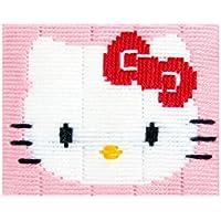 Decorative punto pittura croce (modello stampato, con filo, 16 x 12.5 cm), la progettazione di Ciao Kitty