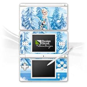 DeinDesign Skin kompatibel mit Nintendo DS Lite Folie Sticker Frozen ELSA Offizielles Lizenzprodukt Disney