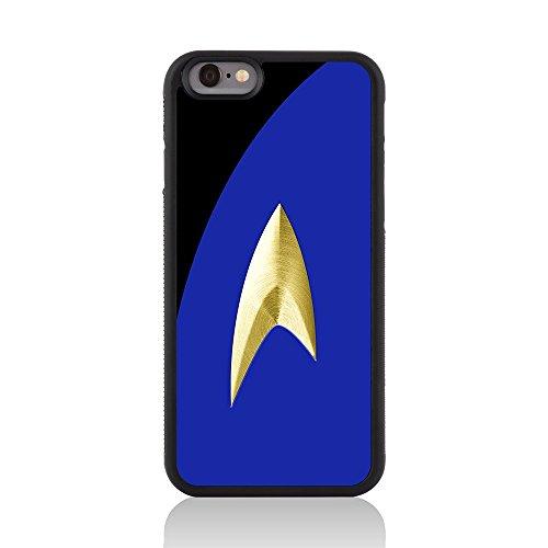 Call Candy 122-113-049 Printed Film/TV Sammlung/Trekki Uniform/Glanz zurück Fall Deckung für Apple iPhone 6 gelb blau