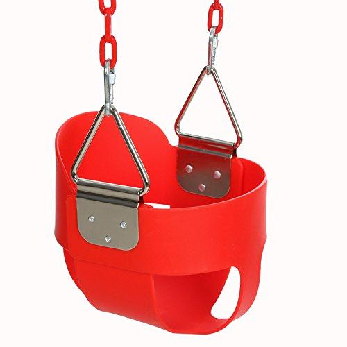 Ncient Kinderschaukel Schaukel mit Aufhängeringen und Edelstahlkette, für Kinder ab 3-7 Jahren, belastbar bis 50kg Babyschaukel (Baby Schaukel Unter $50)