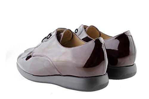 Chaussure amples confortables confort femme Burdeos Bordeaux PieSanto à en cuir lacets 175637 HTHUzr