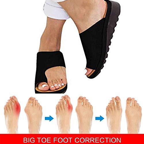 XLBHSH Damen Sommer Strand Reise Schuhe Big Toe Hallux Valgus Unterstützung Plattform Sandale Schuhe Für Bunion Correct,05,42