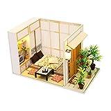 JXQ-N Puppenhaus DIY Dollhouse Kit Licht Modell Kreativ Geburtstag Weihnachts Geschenk mit Licht...