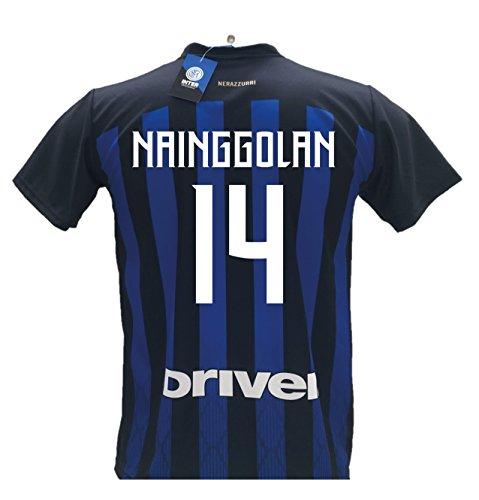 F.c.internazionale maglia calcio inter nainggolan 14 replica autorizzata 2018-2019 bambino (taglie 2 4 6 8 10 12) adulto (s m l xl) (m)