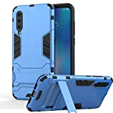 XIFAN Ultra Slim 2 in 1 Stand Case for Xiaomi Mi 9, Armor Tough PC Fighter Rugged + Soft TPU Silicone Case Cover Shell, Blue