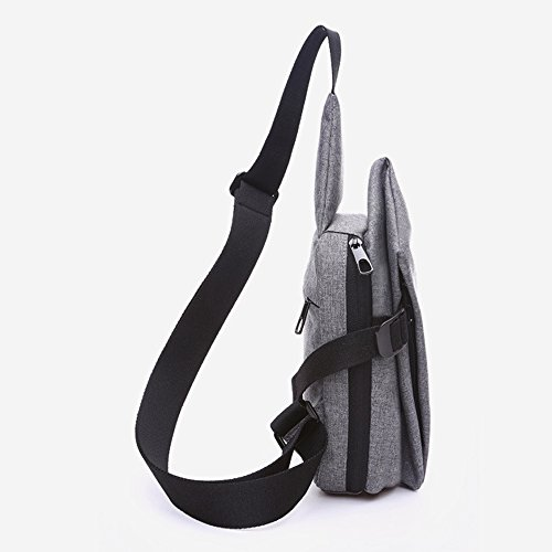 DOXUNGO Unisex Sling-Rucksack unregelmäßige Form Schultertasche für Freizeit Reisen Wandern Fahrradfahren Rosarot