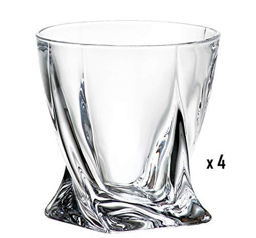 Lot de 4 verres à whiskey en cristal de 340 ml