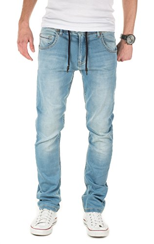 Yazubi Herren Sweathose in Jeansoptik Steve - Jogginghose in Jeans-Look, faded denim (4021), W32/L34