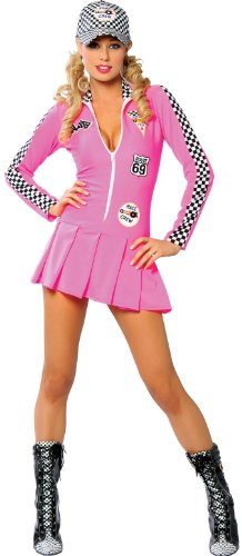 Grid Girl Pink Racing Dress
