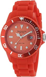 Madison New York Unisex-Armbanduhr Candy Time Analog Silikon rot U4167-11/2