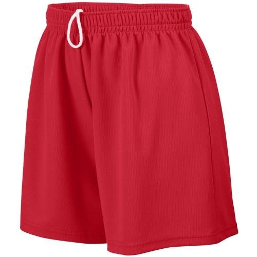 Ladies' Wicking Mesh Short RED XL (Augusta Mesh Wicking Mädchen)
