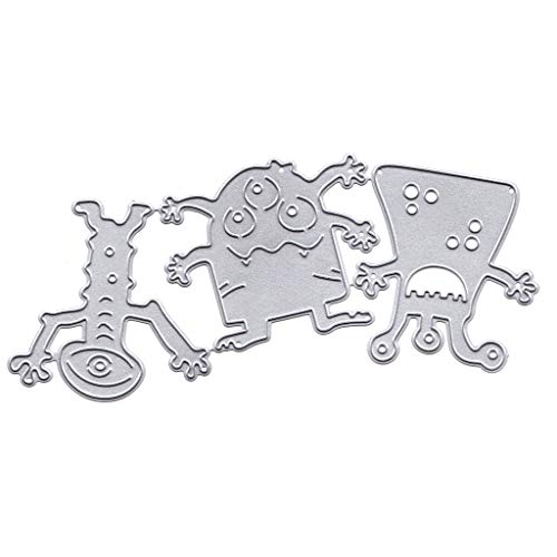 flyWANG 2019 Monster Metall Stanzformen Schablone DIY Scrapbooking Album Stempel Papier Karte Präge Handwerk Dekor
