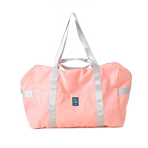 Sumolux Reisetasche Sporttasche Handgepäck für Sport Reise am Wochenend Urlaub Rosa