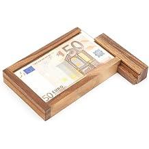 Caja mágica para regalar dinero – Juego de ingenio de madera – Caja regalo con mecanismo de cierre secreto – Juego de ingenio – Regalo de cumpleaños original