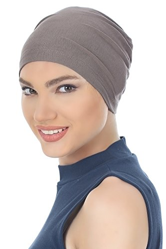 Deresina Unisex Kappe Aus Baumwolle Fur Haarverlust, Chemotherapie (Dunkelgrau - One...