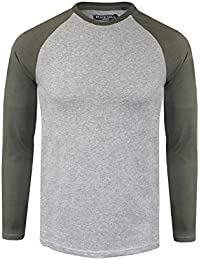 dc9bf74d5f26 Mens Long Sleeved Top Designer by Brave Soul Cotton Summer Casual S-XL