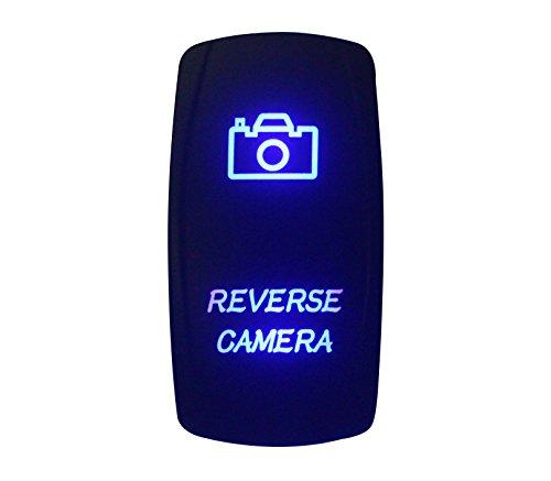 bandc 12V/24V Rückseite Kamera Wippe Laser geätzt blau LED 5Pins SPST ON-OFF-für Marine Grade Auto Boot RV Wasserdicht IP66