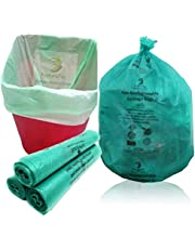 NaturePac Garbage Bags Biodegradable For Kitchen,Office,Medium Size (48cmX56cm/(19 Inchx22 Inch),90 Bags).