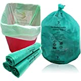 NaturePac Garbage Bags Biodegradable For Kitchen,Office,Small Size (43cmx51cm/17 Inch x 20 Inch,90 Bag) (Green)
