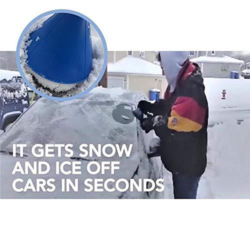 Cinhent--Conico-Auto-Automobili-Parabrezza-Raschietto-per-Ghiaccio-Neve-Pala-Strumento-di-rimozione-Raschietto-da-145-cm-a-Rotonda-Neve-con-Punto-Easy-to-Break-Snow