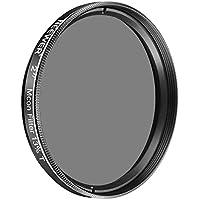 Neewer Filtro de vidrio óptico 2 pulgadas 13% transmisión Luna con metal celular de telescopios atenuar la vista, aumentar contraste, reducir el resplandor y aumentar detalle
