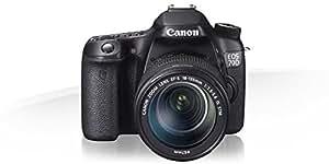 Canon EOS 70D + EF-S 18-55mm f/3.5-5.6 IS STM + EF-S 55-250mm f/4-5.6 IS STM + SD 4GB Kit d'appareil-photo SLR 20.2MP CMOS 5472 x 3648pixels Noir - Appareils photos numériques (20,2 MP, 5472 x 3648 pixels, CMOS, Full HD, Écran tactile, Noir)