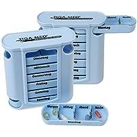 Tablettenbox Medikamentendosierer 2er Set (=2Stück) Blau Medi Pillenbox 7 Tage Pillendose Wochendispenser Original... preisvergleich bei billige-tabletten.eu
