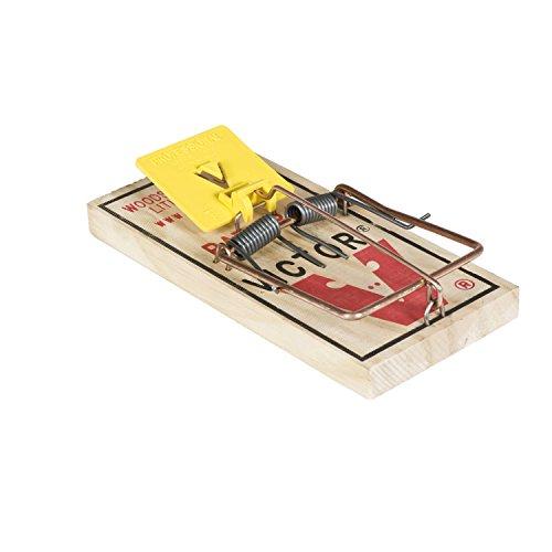 Victor Easy-Set Rattenfalle - Rattenschlagfalle mit Dauerköder - Vorgeköderter Auslöser auf Traditioneller Rattenfalle zur Einfachen & Schnellen Bekämpfung von Schädlingen - Mod. M205
