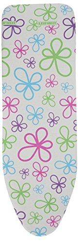 Leifheit 72254 Cotton Classic Universal Vs Bügeltischbezug, Stoff, Trend Flowers, 140 x 45 x 1 cm